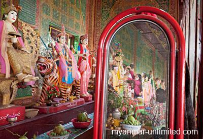 Nat shrine on Mount Popa venerating the 37 Great Nats @ Birgit Neiser