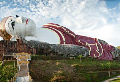 Reclining Buddha, Mudon. A museum is located inside @ Birgit Neiser